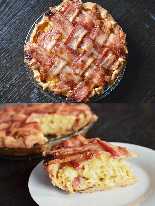 bacon mac and cheese pie