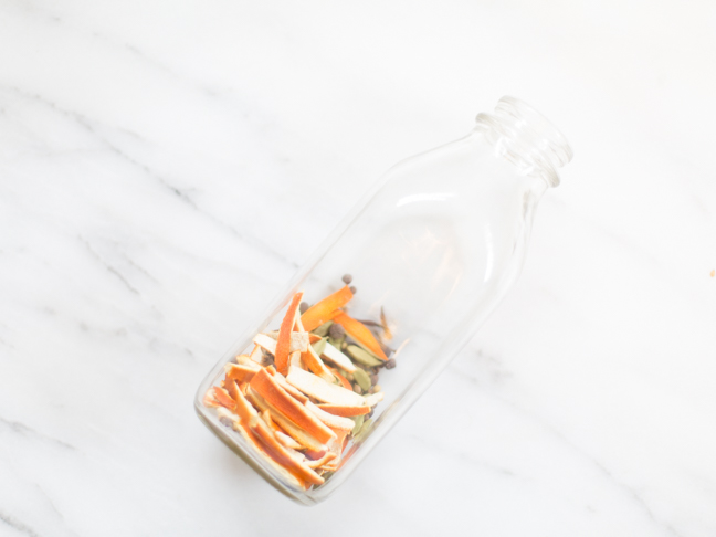 orange peel glass bottle