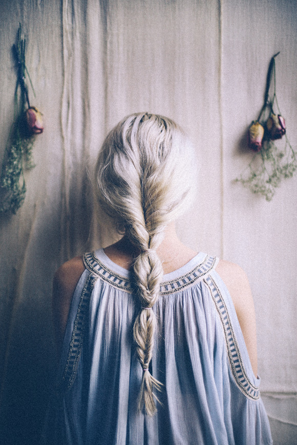 blond fishtail braid