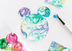 DIY Tinkerbell-Inspired Shaving Cream Art