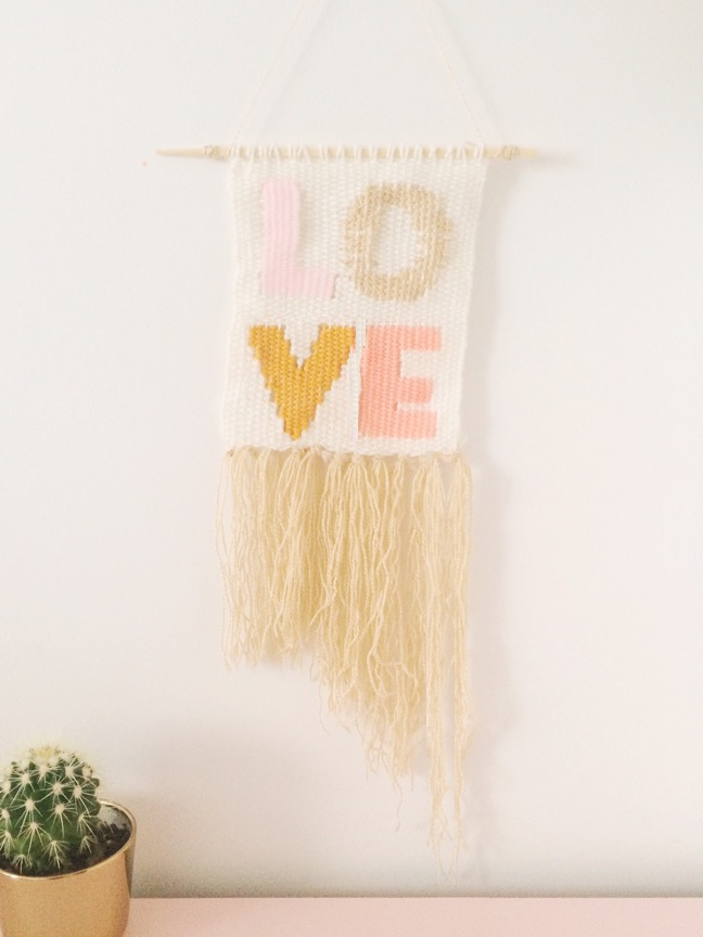 DIY Typography Woven Wall Hanging | Shauna Younge