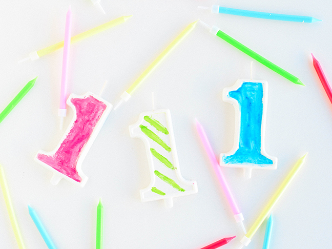 DIY Edible Birthday Candles
