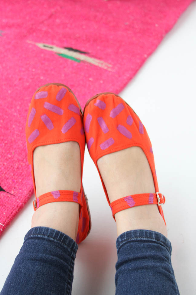 DIY Neon Painted Flats