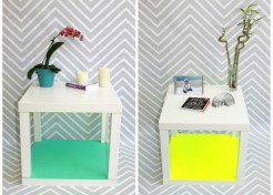 DIY IKEA Lack Coffee Table Hack: Pop of Neon Cube