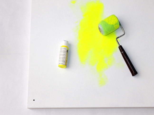 neon yellow mini paint roller