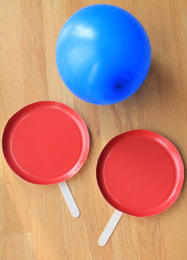 balloon paper plates popsicle sticks