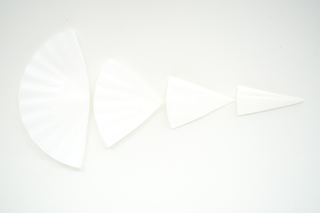 coffee filters folded