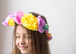 How to Make Coffee Filter Flower Crowns