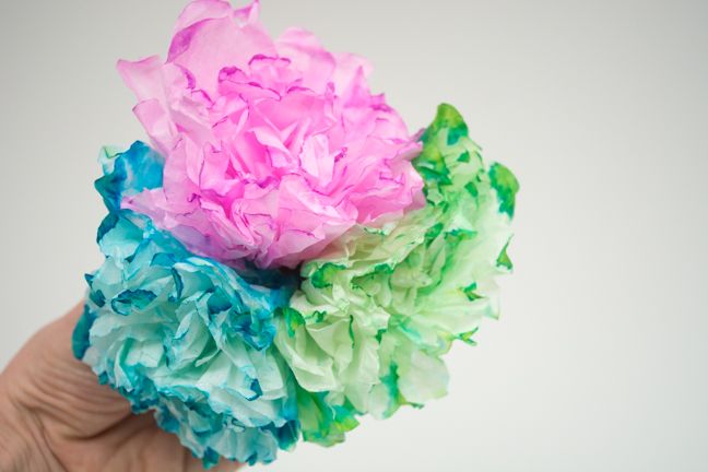 colorful paper peonies