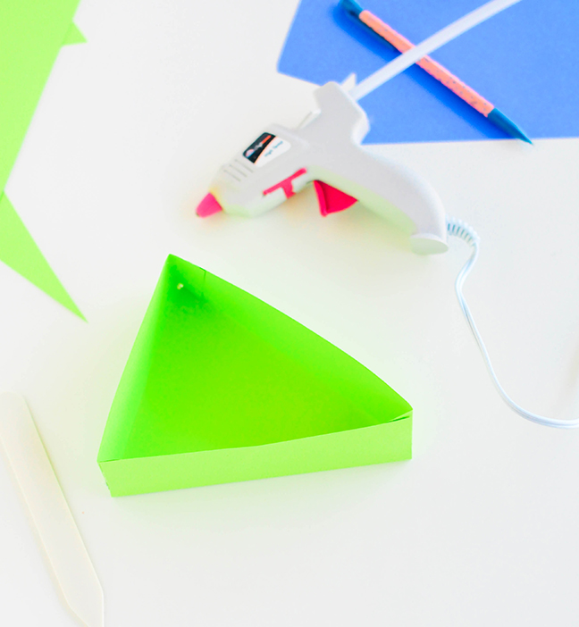 green triangle box hot glue gun