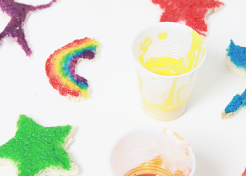 How to Make Edible Paint for Rainbow Toast