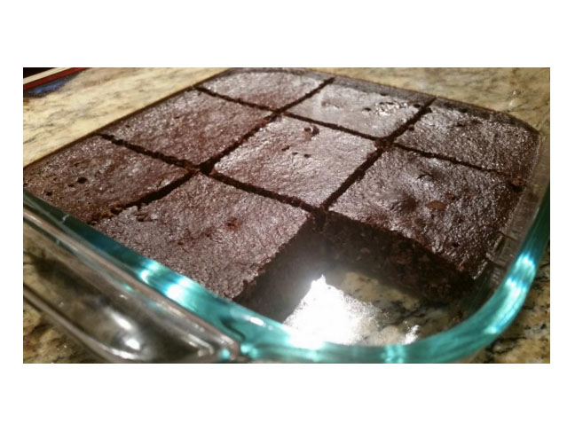brownies cut in squares