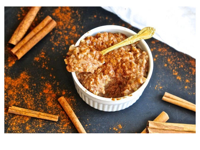 cauliflower rice pudding cinnamon sticks