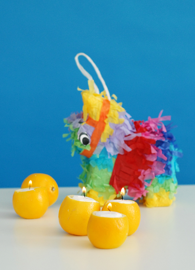 citrus candles mini pinata