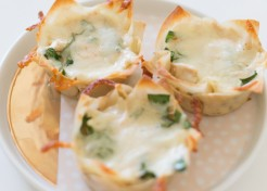 Easiest Ever Mini White Chicken Lasagnas Recipe