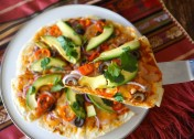 Healthy Baked Loaded Mexican Pizza Recipe