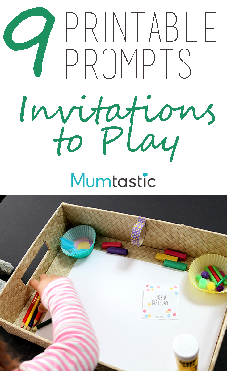 9 printable prompts for invitations to play
