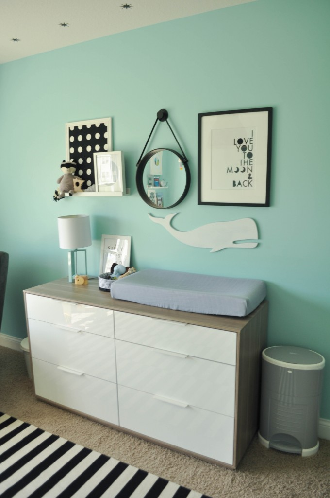 changing table gallery wall art