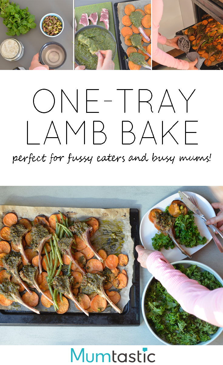 One-tray lamb bake recipe - perfect for fussy kids and busy mums