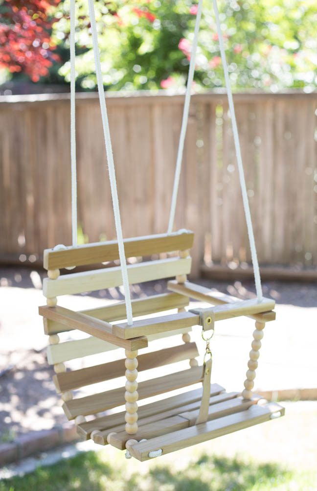 Diy tree swing for baby for Building a wooden swing