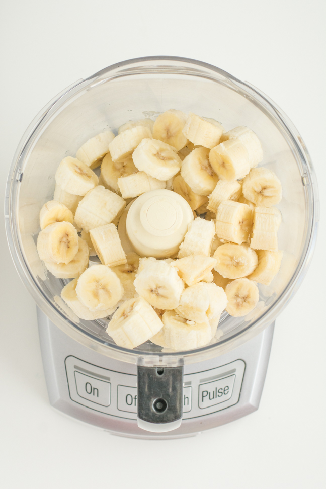 banana slices in food processor