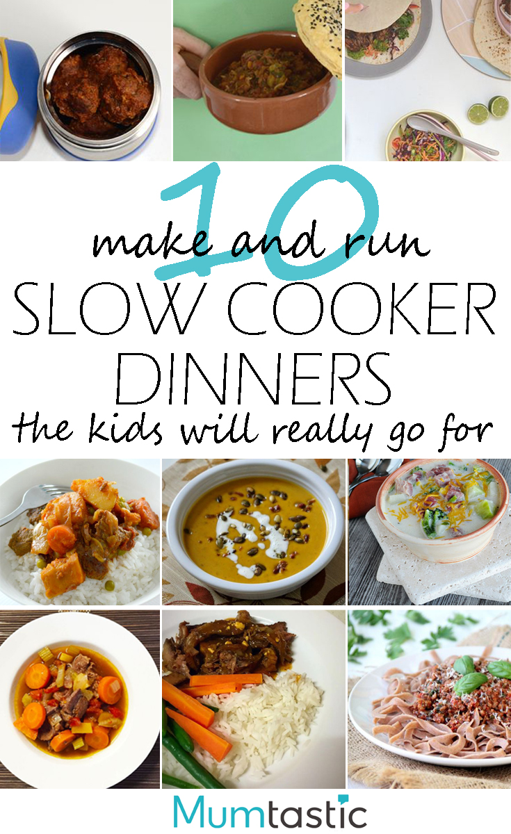 10 make and run slow cooker dinners the kids will really go for