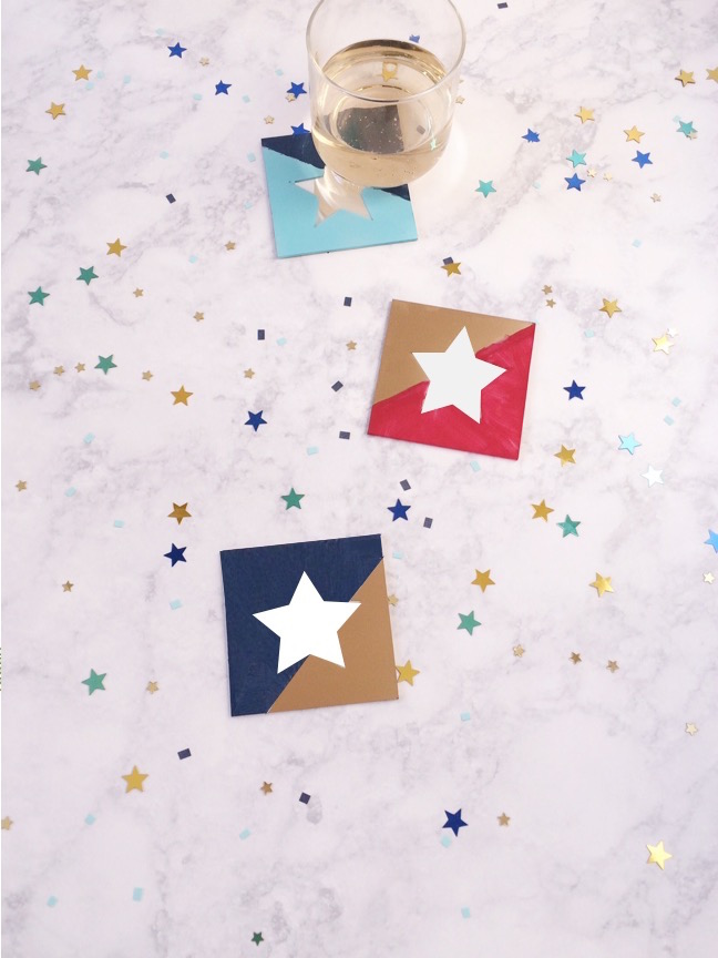 DIY Mirrored 4th of July Star Coasters | Shauna Younge