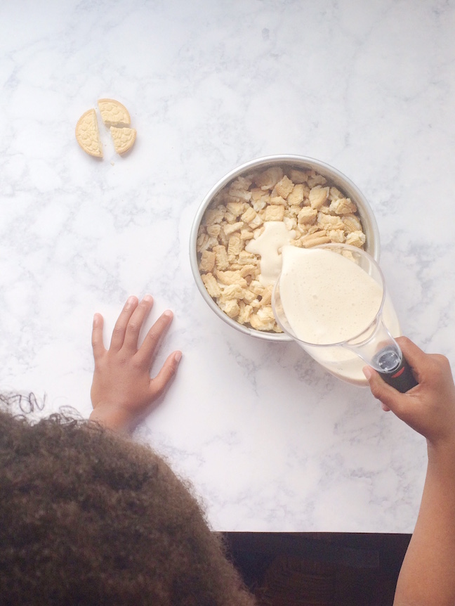 5 Minute Ice Cream Cookie Cake Even the Kids Can Make | Shauna Younge
