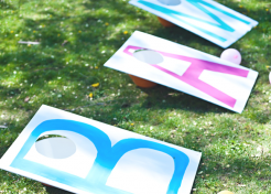 Inexpensive DIY Cornhole Party Game