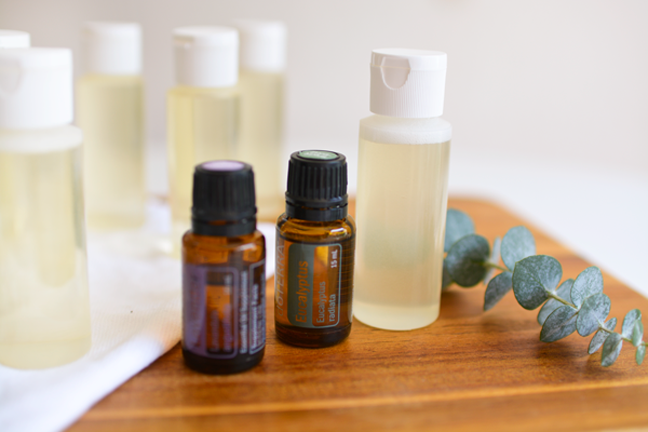 Make your own bubble bath with essential oils.
