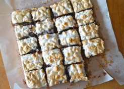 Easy S'mores Brownie Bars with Pretzels
