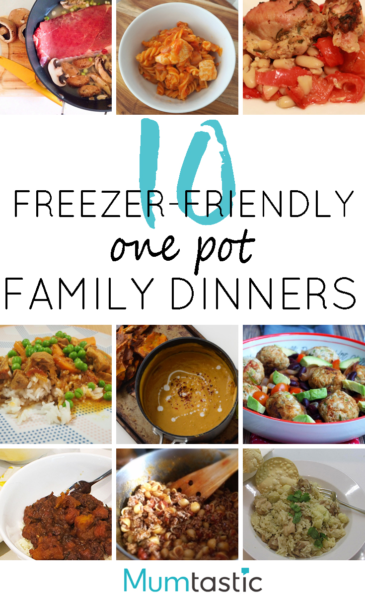 10 one-pot freezer-friendly family dinners