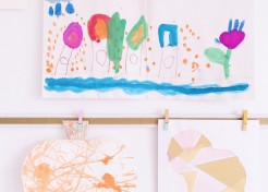 How to Make a Yardstick Art Display for Your Kid's Masterpieces