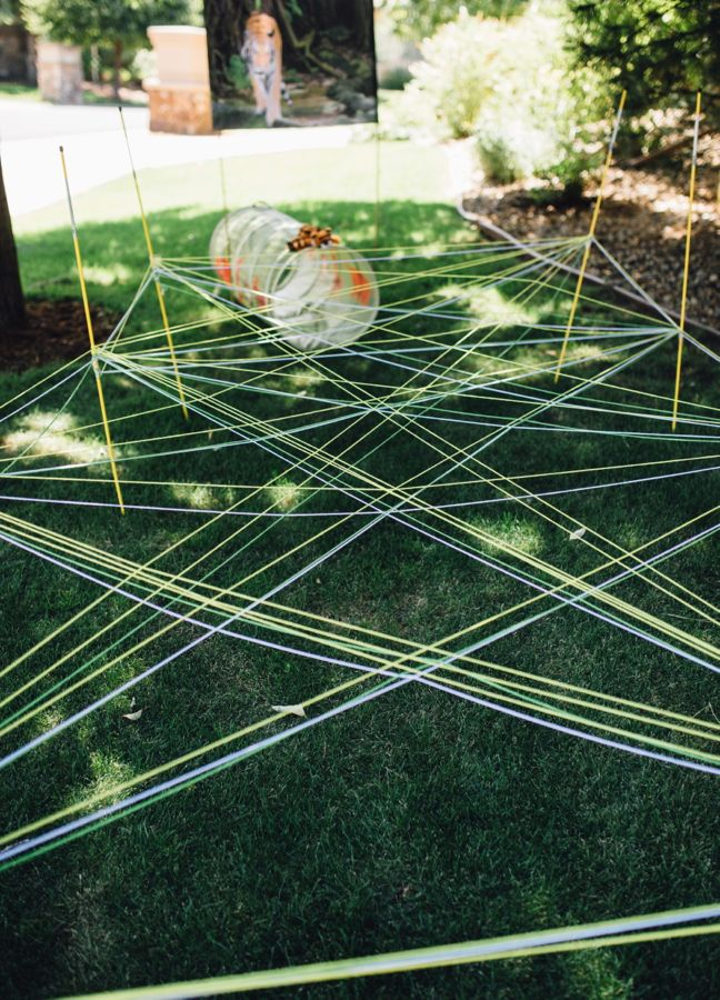 diy-yarn-army-crawl-jungle-obstacle-course