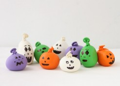 DIY Halloween Mini Balloon Pumpkins