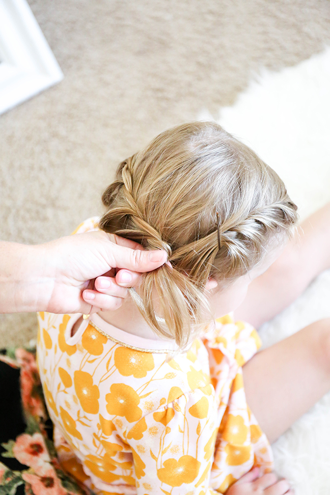 braiding toddler hair on both sides