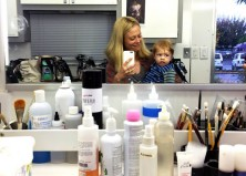 PICS: What it's Really Like to Have My Baby on Set with Me