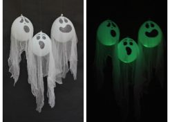 DIY Glow-in-the-Dark Halloween Ghosts