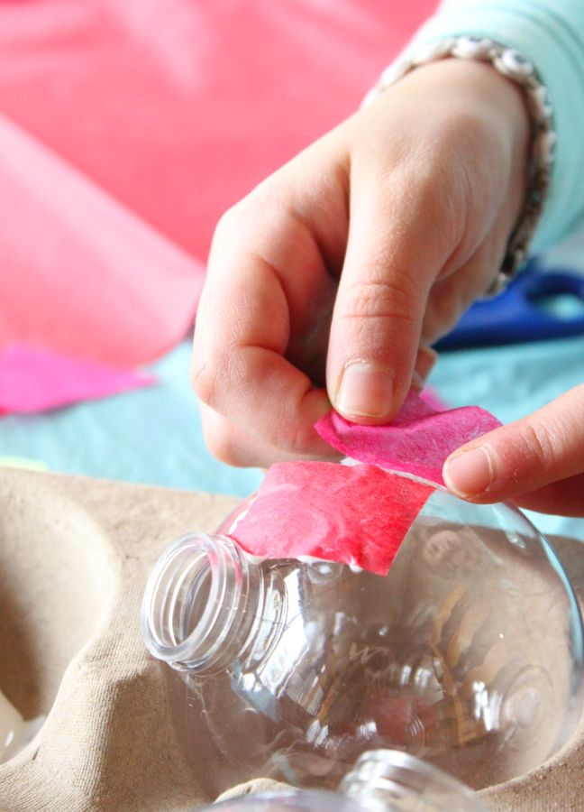 pink-tissue-paper-art-project