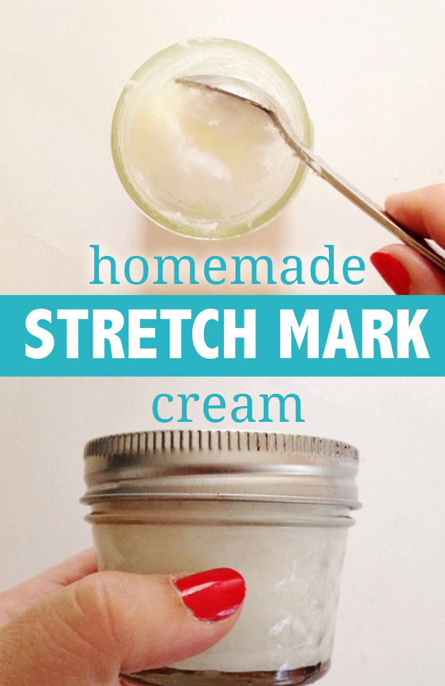 Finished homemade stretch mark cream- keep it in a jar! :)