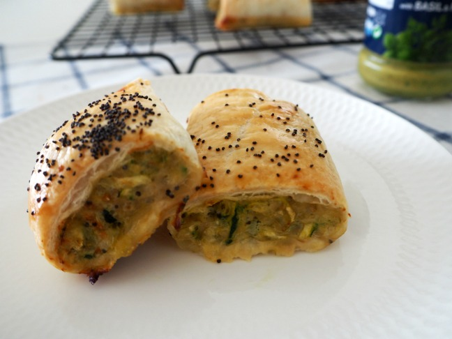 Chicken Pesto Sausage Rolls
