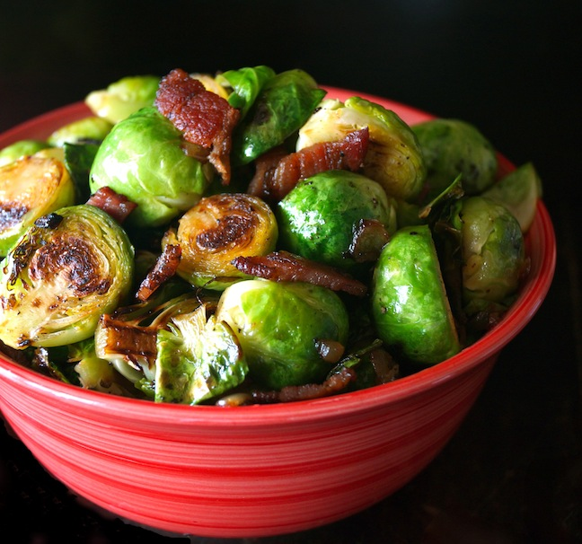 red-bowl-green-brussels sprouts