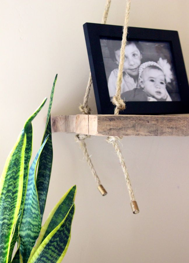 wood swing rope black frame