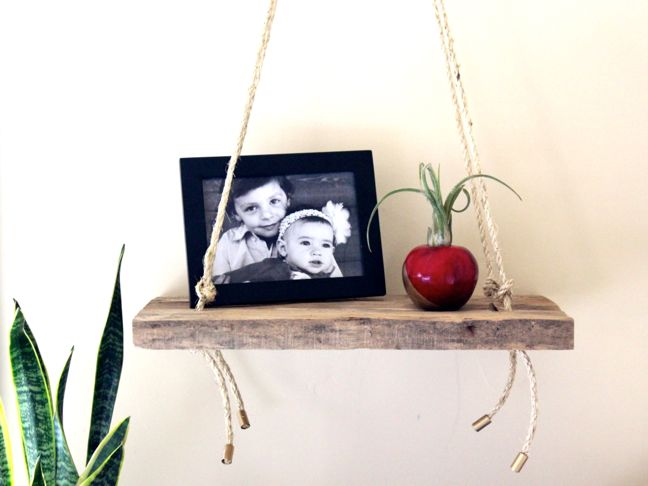 diy-swing-shelf-wood-frame-rope-apple-plant