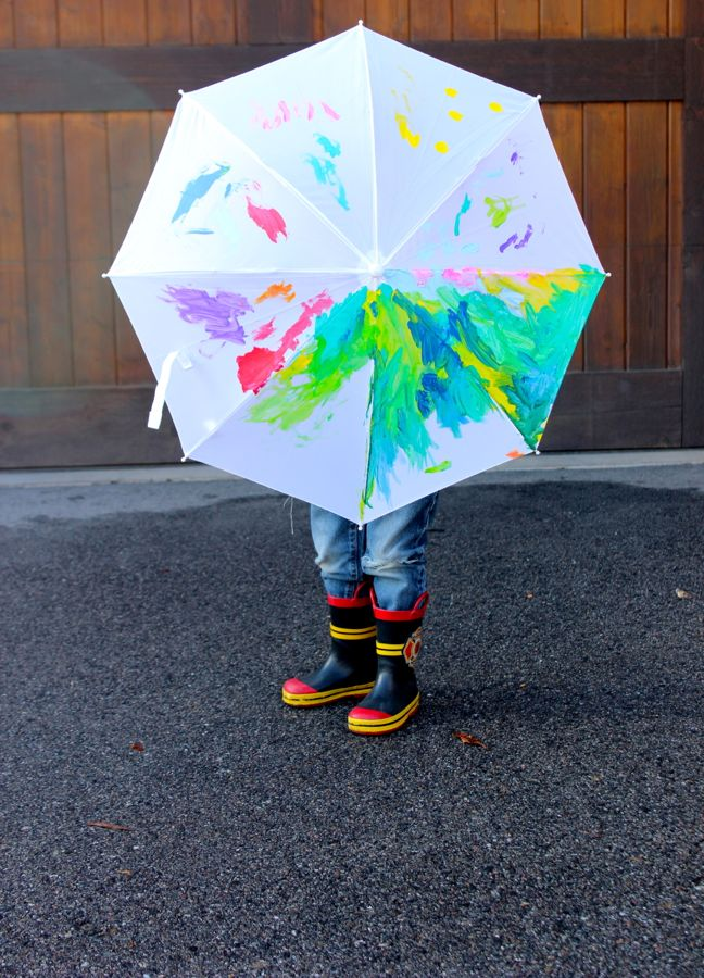 rainbow painted umbrella