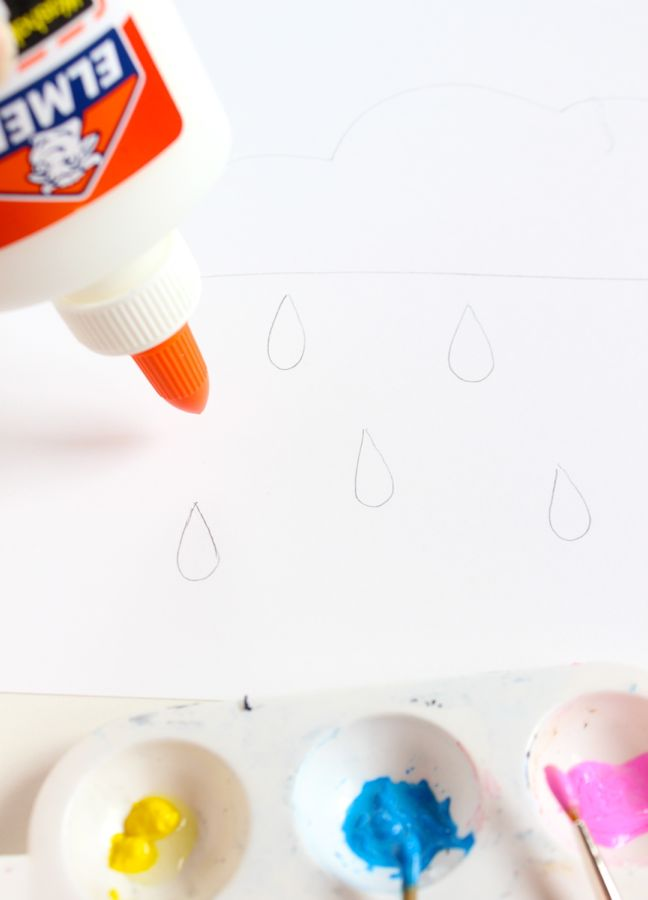 elmers-glue-art-project-rain-drops-on-white-paper