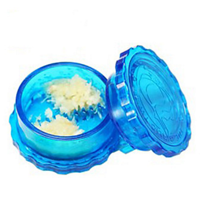blue plastic garlic chopper