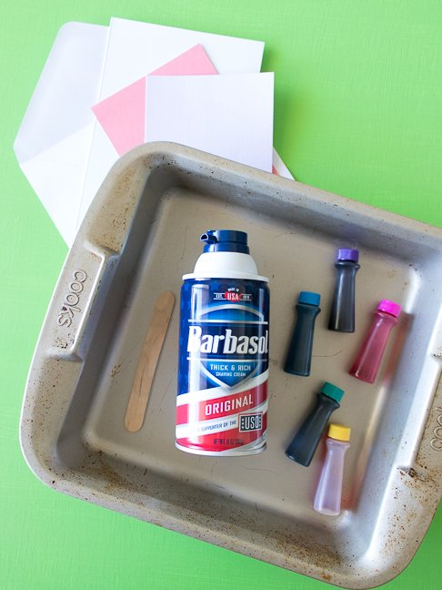 How to Marble Paper with Shaving Cream