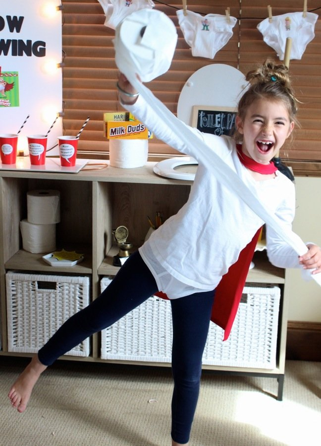girl-at-a-captain-underpants-party-with-toilet-paper