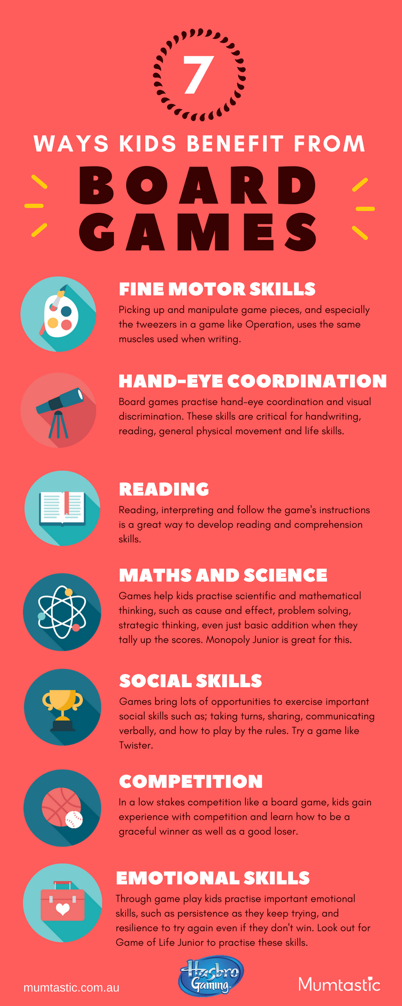 Infographic - 7 Ways Board Games Benefit Kids